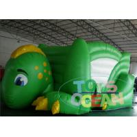China Green Dinosaur Inflatable Bounce House Outdoor Jumping House For Kids CE wholesale