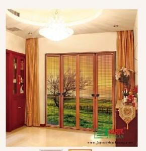 Luxury double-folding screen door