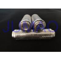China Straight Perforated SS Wire Mesh Filter Cylinder Low Airflow With 0.8mm Hole on sale
