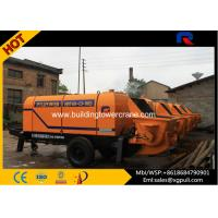 China Air Cooling Trailer Electric Concrete Pump Machine 13 Mpa Outlet Pressure wholesale