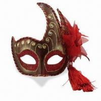 China Party Mask with Glittery Appearance, Various Colors are Available, Made of Plastic wholesale