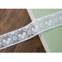 China Water Soluble Poly Milk Embroidered Floral Lace Ribbon Trim Customized wholesale