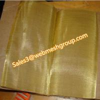 China 80 Mesh Brass Wire Mesh 0.1mm Wire Dia wholesale