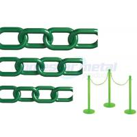 China Recyclable Colorful Plastic Link Chain / Green Plastic Chain For Garden wholesale
