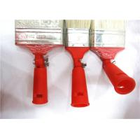 China Collapsible Pure Bristle Wall Paint Brush With Hollow Plastic Handle / White Bristle wholesale