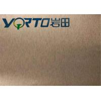 China Color Painted Brushed Aluminum Sheets Customizable Width Good Rigidity wholesale