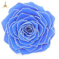 China Grade A Real Touch Wedding Flowers with Glitter Colors  Big Size Preserved Flower Rose for Decor Supplies on sale