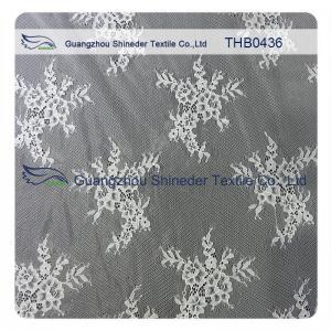 China Eco - Friendly White Bridal Nylon Lace Trim 150 * 300CM Decorative Lace Trim wholesale