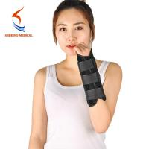 China New type good design composite cloths black wrist protect brace wholesale