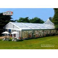 China Romance Thematic Aluminum Wedding Party Tent / Cream White Luxury Wedding Tents wholesale