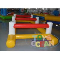 China 0.9mm PVC Obstacle Course Inflatable Rentals Funny Game For Water Playground wholesale