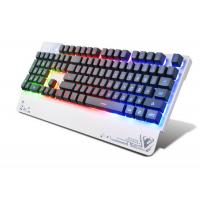 China Wired USB 3 color LED Pro Illuminated Gaming Keyboard For Gamer 104 Keys wholesale
