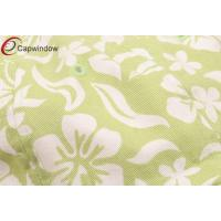 Quality Lime Cotton Cap New Hawaiian Floral Pattern / customized baseball cap with Velcro Closure for sale