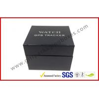 China Leather Texture Rigid Board Gift Packaging Boxes , Foil Stamping Watch Packaging Boxes With Soft Velvet wholesale