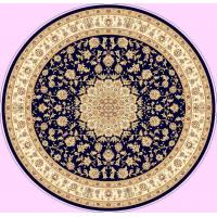 China Persian design  round  machine-made viscose rug  with fringes on sale