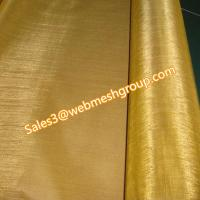 China 150 Mesh Brass Wire Mesh 0.06mm Wire Dia. wholesale