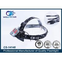 China Energy - saving water resistant CREE LED Bike Light Rechargeable Head Torch with USB Wire wholesale