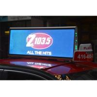 China 1R1G1B Taxi Top Mobile LED Screen Double Side Moving LED Video Billboard High Brightness wholesale