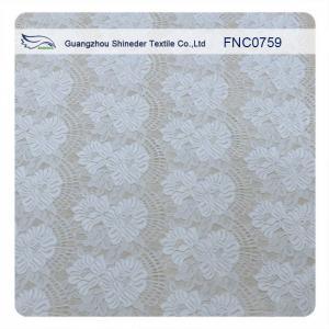 China 150CM Width Floral Cotton Nylon Lace Fabric Purple / White / Black For Ladies Dressing wholesale