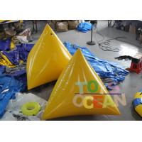 China Durable Inflatable Water Game 2M Yellow Floating Inflatable Pyramid Water Buoy wholesale