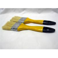 China Multifunctional White Bristle Flat Paint Brush For Surface Painting / Cleaning Wall wholesale