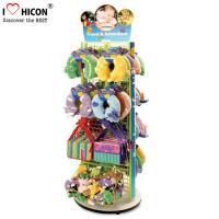 Buy cheap 2 - Way Flooring Display Stands Grid Back Wood Base Kids Toy Display Shelving from wholesalers