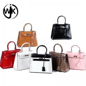 China Famous brand elegant fashion handbag custom lady shoulder handbag wholesale ladies crocodile genuine leather bag wholesale