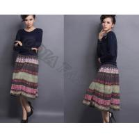 China Colorful Comfortable Ladies WoolSkirt Retro Casual With Breathable wholesale