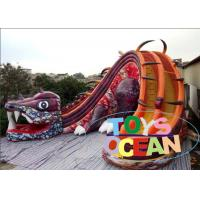 China 17 Foot Body Length Backyard Inflatable Water Slides With Digital Printing 11.28 x 9.7 x 8.6m wholesale