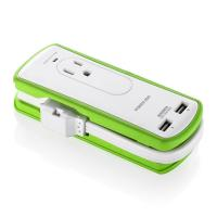 China 2 Outlet Mini International Travel Power Strip Surge Protector UL Approved wholesale