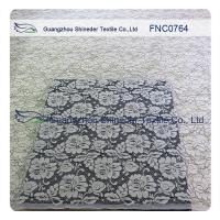 China Women Garments Nylon Cotton Lace Fabric With Floral Panel 1.45 - 1.5m Width wholesale