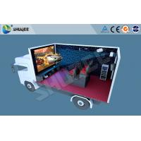 China Truck Mobile 5D Movie Theater , Mini 5d Project For Motion Chair Cinema wholesale