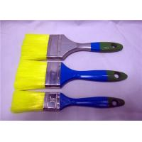 China Nylon Flat Nylon Paint Brushes For Interior Wall Painting , Wooden Handle Paint Brush wholesale