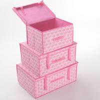 Large Pink Essential Household Non Woven Storage Boxes