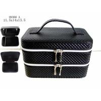 China Professional Black Custom Packing Boxes Women Cute Cosmetic Bags With Handle wholesale