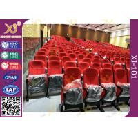 China Safety Materials Oak Armrest Top Lecture Theatre Seating With Movable Legs wholesale