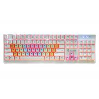 Quality Colored USB Wired Gaming Keyboard / Pc Gaming Keypad Adjustable LED Backlight for sale