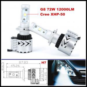 China G8 72W 12000LM LED headlight H4 H7 H16 H9 H10 H11 9005 9006 CREE XHP50 LED Headlight Kit wholesale