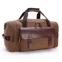 China Portable Leisure Travel Bag Large Capacity 16 Ozs Canvas / Waterproof Leather wholesale