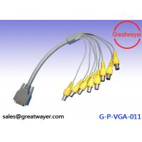 China Female Wire Harness Cable Connectors for CCTV System , VGA to 8BNC Video Graphics Array wholesale