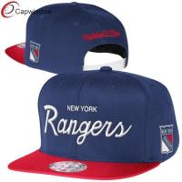 China New York Rangers Blue Reflective Custom Strapback Baseball Hats wholesale