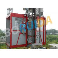 China Red Construction Material Hoist Single Cage , Electric Ladder Lift wholesale