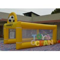 Quality PVC Lucozade Inflatable Soccer Shooting Goal For Football Playing for sale