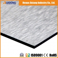 China Silver 3mm 6000mm Nano Brushed Aluminum Composite Panel wholesale