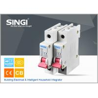 China Breaking capacity reach to 10000 voltage 230v/400V 20a 50HZ single pole small circuit breaker overload protection wholesale
