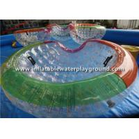 China Durable Rope Inflatable Zorb Ball , Bowl Shape Water Zorb Ball For Pool Game on sale