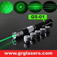 China 5 in 1 Green Laser Pointer Pen 1mW Star Effect Caps 5 Laserheads Lazer Light Made In China on sale