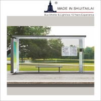 China Galvanized Tempered Glass 2340mm A3 Bus Stop Shelter on sale