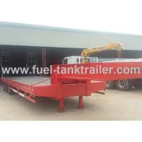 China Red 3 Axle Heavy Duty Trailer , Low Bed Trailer Truck 30T Loading Weight on sale