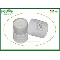 China White Card Cardboard Canister Packaging , Custom Printed Candle Boxes wholesale